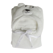 Baby Receiving Blankets Coral Fleece Blanket Swaddling Wrap Swaddle Hooded Robe Dressing Gown Girl or Boy 100*100CM