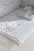 pirulos Duvet + Screen Protector + Cushion maxicuna 70 x 140 Collection Bear Star Linen