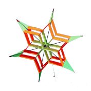 Huge Lotus Flower Box Kite Colourful Signle Line Nylon 3D Kite with Flying Tools