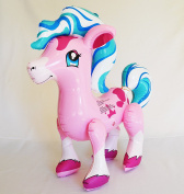70cm Inflatable Pink Pony Blow Up Vinly Toy, For Kids, Fun,Gift, Horse