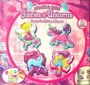 Mould & Paint Fairies & Unicorns Plaster Cast Fridge Magnets - Girls Arts & Crafts