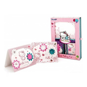 Hello Kitty Girls Arts Craft Gift Card Making Cardmaking Kit Set - Perfect for a Party or Sleepover