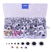 Outus Self-adhesive Googly Wiggle Eyes 5 mm to 25 mm Assorted Sizes for Art Craft Projects, 1083 Pieces