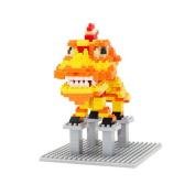 Larcele 368PCS Lucky Lion Small Building Blocks KLJM-01