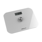 HIRALIY Battery-free Digital Body Scale, High Precision Step-on Personal Bathroom Scale with LCD Display