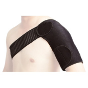 Magnetic adjustable neoprene shoulder support brace strap for sports injury pain relief