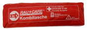 RAU EH0008 Trio Combi Bag First Aid DIN13164 (Newest Edition) with Warning Triangle ECE and High Visibility Vest EN20471 Red