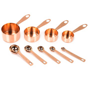 Copper Measuring Cups and Spoons, Set of 9