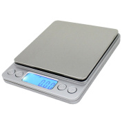 Spirit 500g/0.01g Digital Pocket Scale, Stainless kitchen Food Scale Jewellery Scale, 0ml Resolution