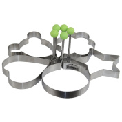 Dianoo Stainless Steel Pancake Mould Mould Ring Cooking Fried Egg Shaper, 5PCS