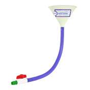 Beer Bong with Valve - Glow in the Dark Beer Funnel for College Parties - 0.6m Blue Beer Bong - by Univercity