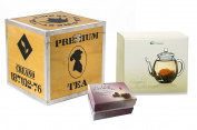 Creano Wooden Decoration / Black Tea Box Gift Set, Brown, 18 cm