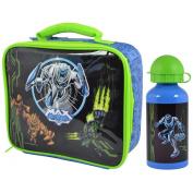 CrazyGadget® Max Steel Freaks Kids Children Lunch Bag and Metal Water Bottle Set for School Picnic Travel Gift Present Christmas Birthday