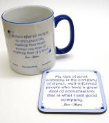 A Celebration of Jane Austen Coaster and Mug Set.