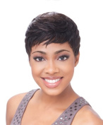 Premium Plus Tara 27 pieces. 100% Human Hair Short Extension Weave. Black Colour 1B,
