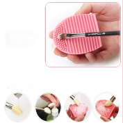JACKY Cleaning Glove MakeUp Washing Brush Scrubber Board Cosmetic Clean