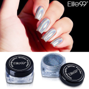 [ NEW Holographic Laser Nail Chrome Powder ]- Elite99 Shiny Rainbow Pigment Nail Glitter Effect Nail Art DIY Manicure Salon Tips 1g/Box with Sponge Stick