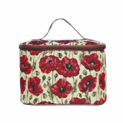 Signare Womens Vanity Bag/ Toiletry Case/ Make-Up Case, Available in 14 Designs (Poppy) by Signare