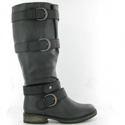 Dolcis - OLB154 Buckle Knee Boots, Black