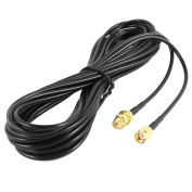 Vzer 10M RP-SMA Male to Female Wifi Antenna Connector Extension Cable Black