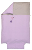 P 'tit Basile - Baby - Toddler - Size Embroidered Duvet Cover 100x140 cm Organic Cotton 57 Thread Count/cm2, high quality, extra soft - Tight Weave Collection pluied' Stars - Assorted Colours