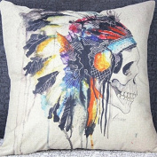 Vipwind Indian Skull Cotton Linen Throw Pillow Covers Decorative Cushion Cover Case Capa De Almofada Quality First