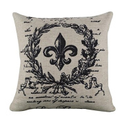 Vipwind Linen Square Throw Flax Vintage Pillow Case Decorative Cushion Cover Quality First