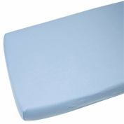 4x Jersey Fitted Sheet 100% Toddler Bed 70x140cm Blue