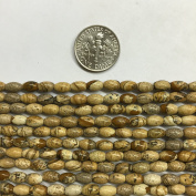 4x6mm Oval Natural Gemstone Beads, 15.5""