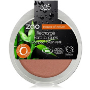 Zao Refill Compact 325 coral gold shimmering Blush Refills (Organic, Vegan Natural Cosmetic - 111325