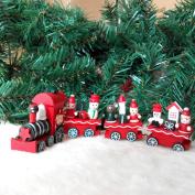 LemonGo Kids toys wooden train set Decor Christmas Train Decoration