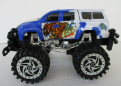 White & Blue Bugbear Power Champion Friction Big Wheel Super Power Pickup Truck