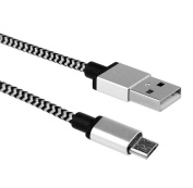 Ularma V8 2A Braided Aluminium Micro USB Data & Sync faster Charger Cable For Android Phone