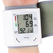 Blood Pressure Monitor Wrist Accurately Detects Blood Pressure Heart Rate & Irregular Heartbeat, Large LCD Display