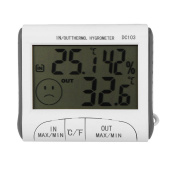 Digital Thermometer Hygrometer Max Min Temperature Humidity Indoor Outdoor