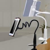 Yaheeda Phone Holder,Bracket Flexible Long Arms Universal Cell Phone Clip Holder Fit On Desktop Bed Mobile Stand for Bedroom Office Bathroom Kitchen Colour Random