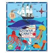 eeBoo - Big Blue Whale Height Chart