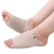 Sasairy 1 Pairs Massaging Gel Flat Foot Pad Foot Care Arch Support Plantar Fasciitis Heel Pads