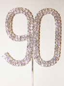 Number 90, Large Diamante Cake Topper. Stunning for Birthday Celebration Cakes