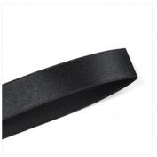 BLACK Single Face Satin Ribbon Roll Choose Size 0.6cm , 1cm , 1.6cm , 2.2cm , 2.5cm - 1.3cm - Polyester