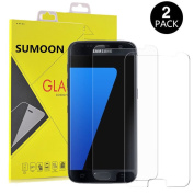 Galaxy S7 Screen Protector,[2 Pack] SUMOON Glass Protector [Tempered Glass] 9H Hardness, Bubble Free [Case Friendly]
