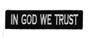 In God We Trust Tactical Hook and loop Fully Embroidered Morale Tags Patch 1x4