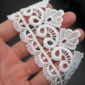 5.1cm Wide Rayon Lace Trim Venise Lace Eyelet Fabric Pack of 14 Yards