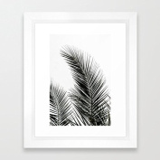 Vintage Framed Pictures Palm Tree Painting Framed Prints Wall Poster Art for Living Room