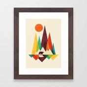 Abstract Framed Picutres and Prints Bear in Whimsical Wall Art for Living Room Christmas Gifts