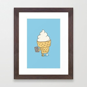 Funny Framed Pictures Everyone Poops Wall Art Wooden Framed Prints for Bedroom Christmas Gifts