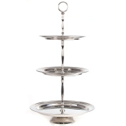 3-Tier Serving Stand Height 49 cm For Cakes Fruit