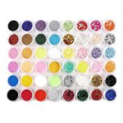 48 Pcs HOLOGRAPHIC IRIDESCENT GLITTER EXTRA FINE POWDER NAIL BODY FACE ART CRAFT