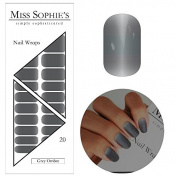 Miss Sophie's Nail Wraps Grey Ombre