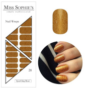 Miss Sophie's Nail Wraps Sparkling Rose 20 Ultra, thin self-adhesive Long-Lasting Nail Wraps